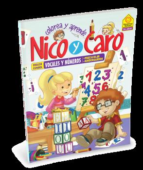 Colorea y Aprende con Nico y Caro - Números y Vocales