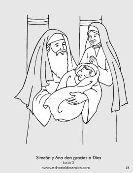 Simeón y Ana dan gracias a Dios - Lucas 2 - Gracias, Dios, por Jesús