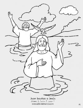 Juan bautiza a Jesús - Mateo 3 - Quiero seguir a Jesús. Él es el Hijo de Dios