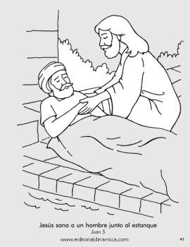 Sana a un hombre junto al estanque - Juan 5 - Jesús puede hacer cosas que nadie más puede hacer