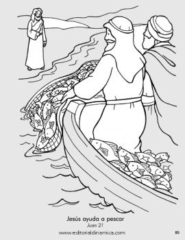 Jesús ayuda a pescar - Juan 21 - Yo sé que Jesús está vivo
